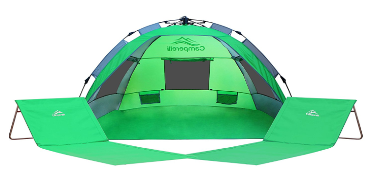 Camperelli Is Designed With Zipping Up Carrying Bag For Easy Access It Also Includes 2 Nos Fold Beach Chairs And 4 Tent Pegs